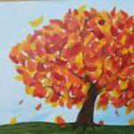 Kids Fall Tree Canvas