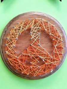 String Art Peace Sign