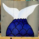 mermaid board art tail