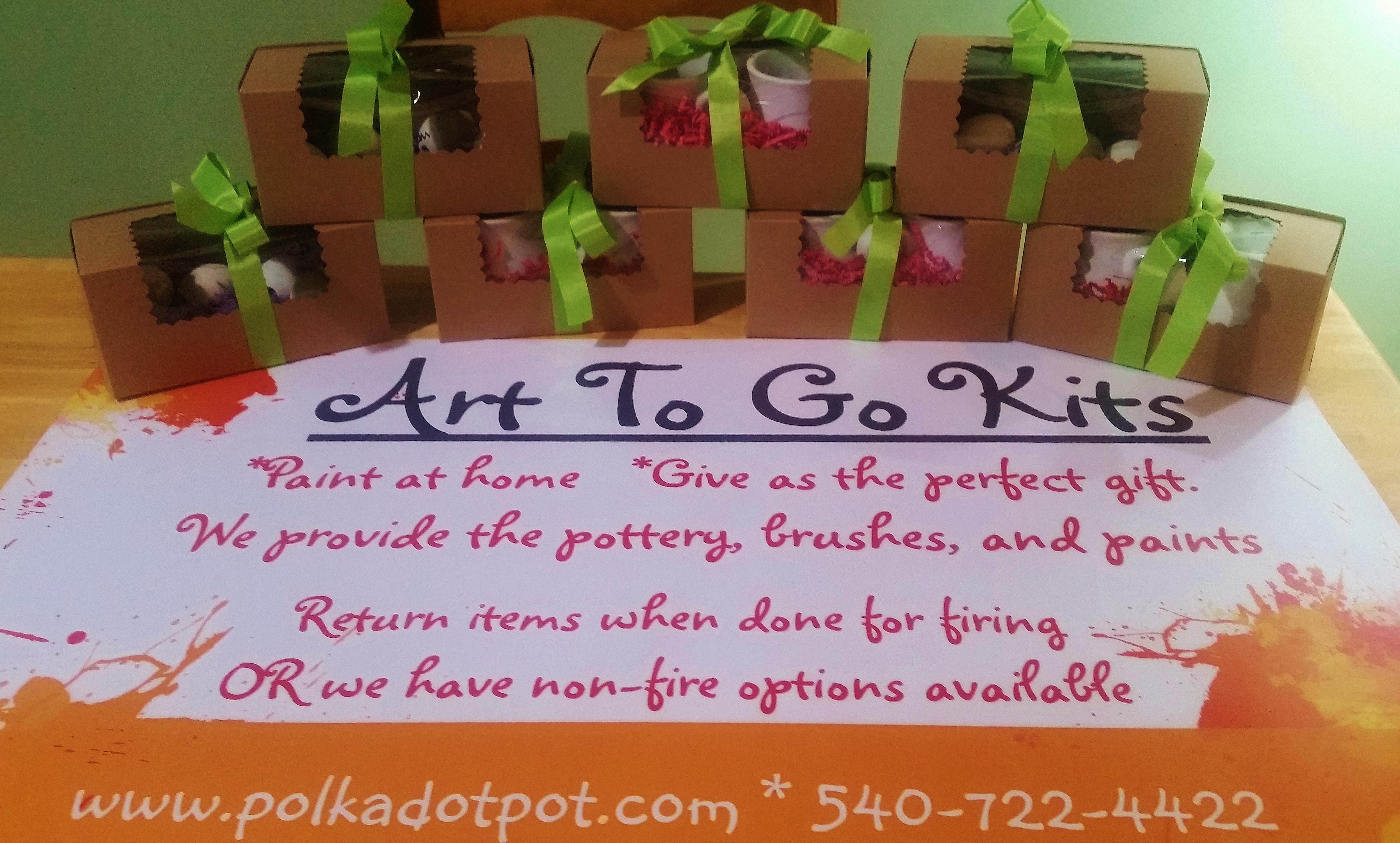 New!  Art To Go Kits