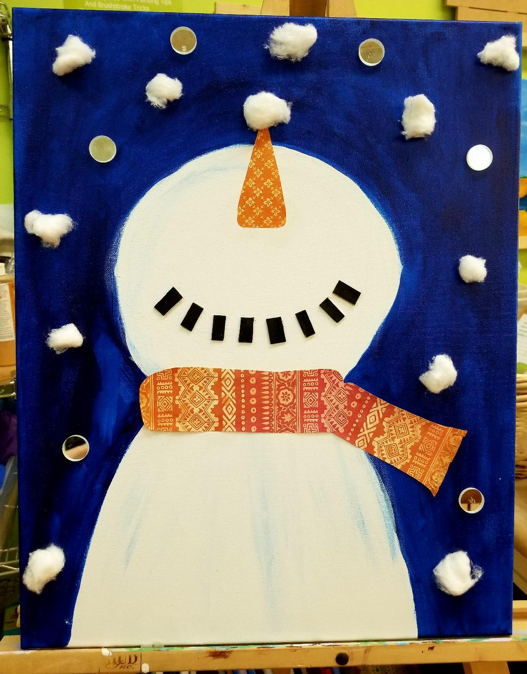 snowman mixed media image collections